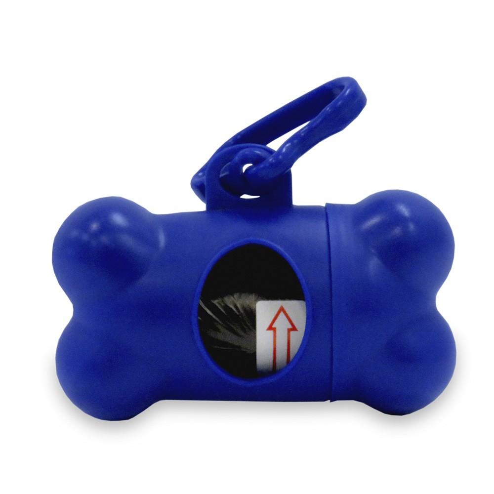 Dispensador de Bolsas Bone Para Mascota De Hueso - Azul
