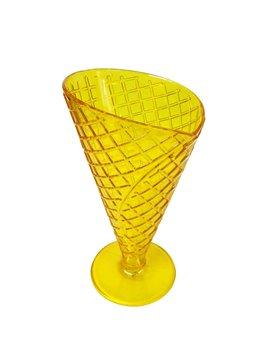 Copa para Helado con textura de galleta - Amarillo