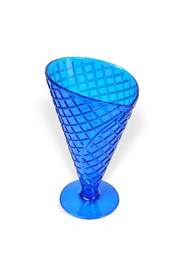 Copa para Helado con textura de galleta - Azul