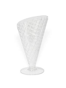 Copa para Helado con textura de galleta - Transparente