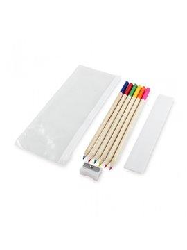 Kit Escolar Con Cartuchera Cierre Ziplok - Multicolor