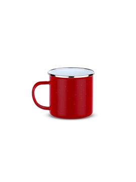 Vaso Taza Esmaltada Galaxy 17 Oz Acero - Rojo