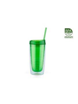 Vaso Pitillo Wonder 450ml Libre BPA - Verde Esmeralda
