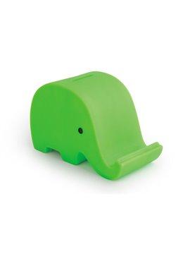 Alcancia Elephant Elaborada En PVC Con Diseno de Elefante - Verde