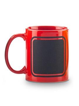 Mug Ceramica Pocillo Tablero Frame 11oz - Rojo