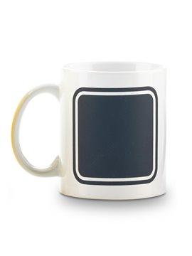 Mug Ceramica Pocillo Tablero Frame 11oz - Blanco