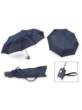 Paraguas 21 Plegable Automatico Luxury - Azul Oscuro