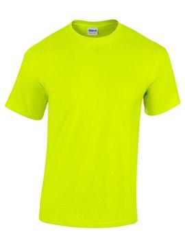 Gildan Camiseta Talla XL T Shirt Adulto Cuello Redondo - Verde Fluorecente