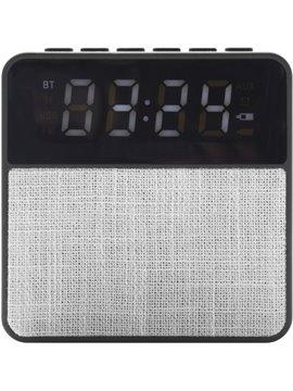 Reloj Altavoz Parlante y Radio Atenas Bluetooth - Gris