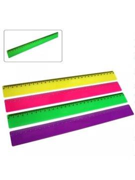 Regla Escolar 30 cm - Produccion Nacional - Colores de Linea