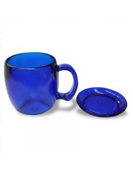 Vaso Mug 11 oz con Plato - Produccion Nacional - Colores de Linea