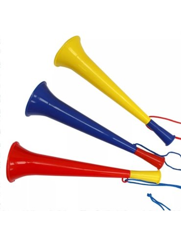 Vuvuzela Mundialista con Cordel - Produccion Nacional - Colores de Linea
