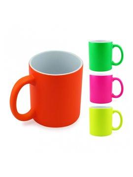 Vaso Mug Sublimacion Neon 11 Oz - Amarillo