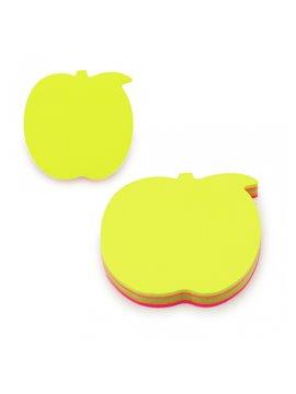Notas Adhesivas en Forma de Manzana - Multicolor