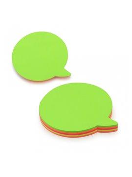 Notas Adhesivas en Forma de Globo de Mensaje - Multicolor