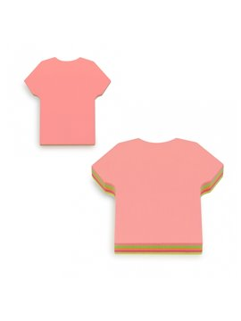 Notas Adhesivas Forma de Camiseta - Multicolor