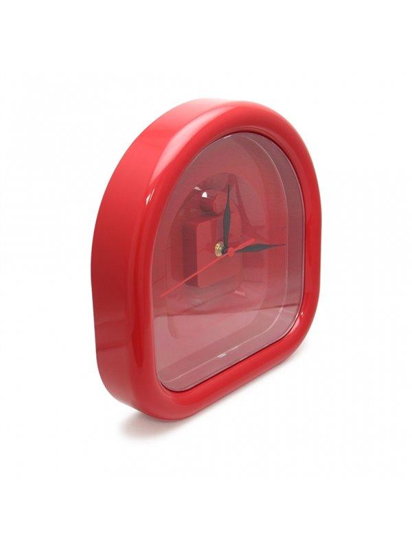 Reloj de pared en forma de arco - Rojo