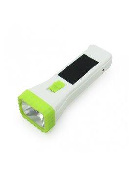 Linterna Recargable Solar y por Enchufe - Verde Claro