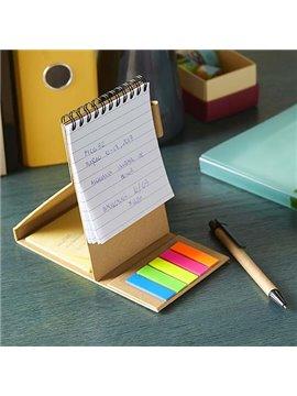 Cuaderno Libreta Malia con Boligrafo y Notas - Beige