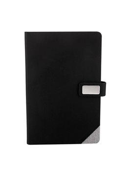 Cuaderno Libreta Boryspil 80 Hojas y Placa - Gris