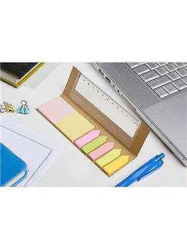 Porta Notas Lule Notas Adhesivas y Regla - Beige