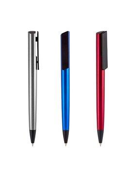 Esfero Boligrafo Livenza Plastico Touch Screen Pulsador Clip - Azul
