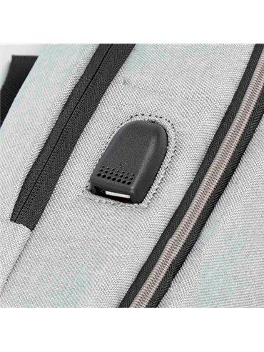 Morral Maletin Sisak Salida USB PortaLaptop - Gris