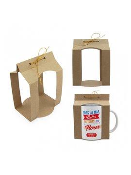 Caja Para Mug 11 oz Abierta en Carton - Natural