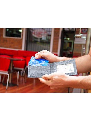 Billetera Ryan Plegable Proteccion RFID - Azul Oscuro