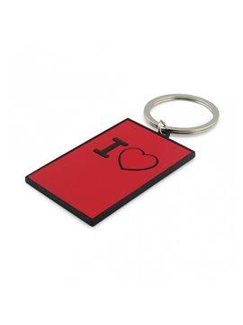 Llavero Metalico con Logo I Love You - Rojo