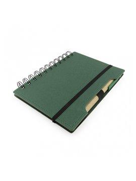 Cuaderno Libreta Agenda Ecologica Incluye Boligrafo - Verde
