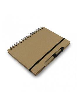 Cuaderno Libreta Agenda Ecologica Tapa Dura Boligrafo - Cafe