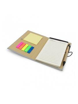 Cuaderno Libreta Ecologica Notas y Esfero - Plateado