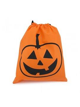 Bolsa Tula con Diseno Halloween Elaborada en Kambrel - Naranja
