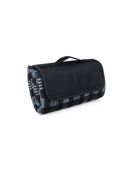Manta Cobija Picnic Lalys Doble Textura Camping - Negro