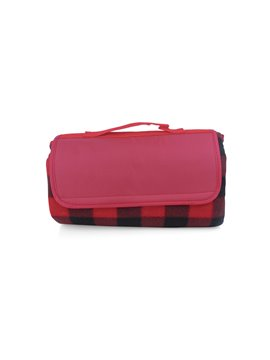 Manta Cobija Picnic Lalys Doble Textura Camping - Rojo