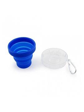 Vaso Pastillero Silicona Tapa en Plastico - Azul