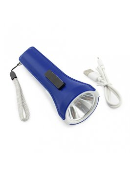 Linterna Recargable Power Bank 1200 mah - Azul