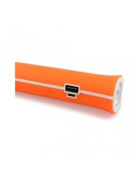 Linterna Recargable Led Power Bank 1200 mah - Naranja