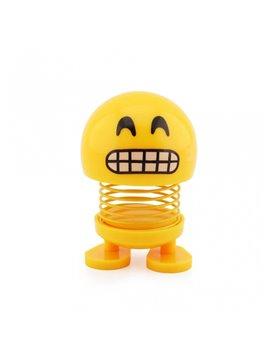 Emoji Resorte con Adhesivos para el Carro - Sonriente