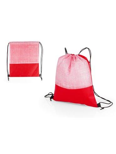 Bolsa Tula Mochila Russel Doble Cordon - Rojo