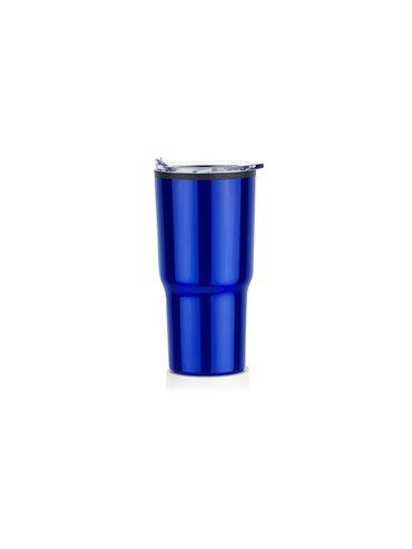 Vaso Acero Relax 600ml Doble Pared - Azul Rey