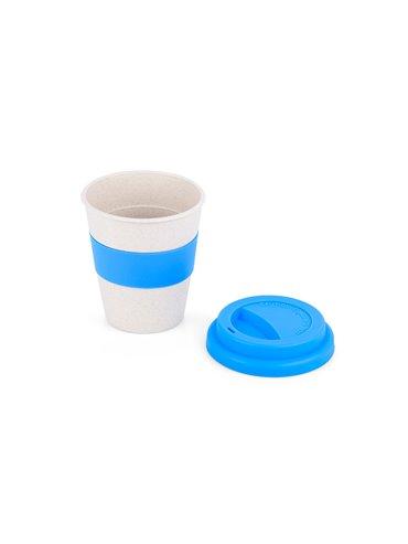 Vaso en Fibra de Bambu II 350ml - Azul Claro