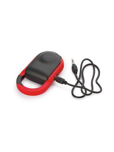 Altavoz Parlante Hook Bluetooth Carabinero Elaborado en ABS - Rojo