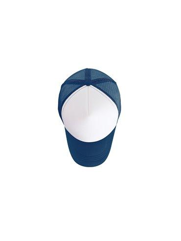 Gorra Cachucha Hanna 5 Paneles Frente Fusionado - Blanco / Azul Oscuro