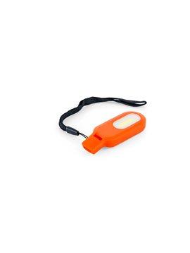 Linterna Silbato Cautious Cordon para Muñeca - Naranja
