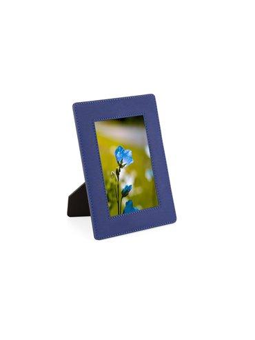 Portaretrato Memory en PU con Soporte - Azul