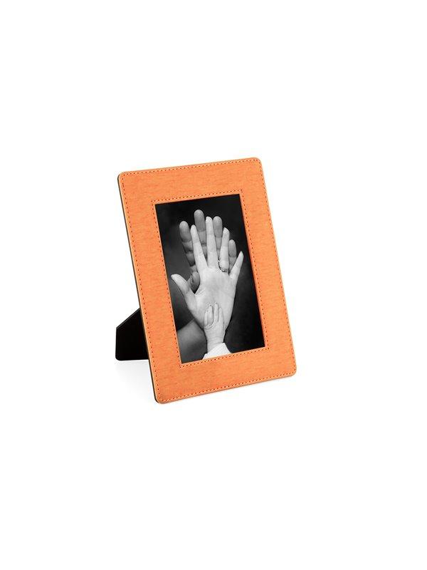 Portaretrato Memory en PU con Soporte - Naranja