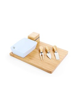 Set de Quesos Boul Meeting con Tabla Rectangular - Natural
