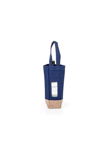 Bolsa para Vinos Gift Costuras Reforzadas - Azul Oscuro